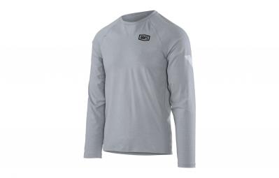 t shirt technique manches longues 100 meter gris