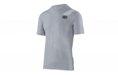 t shirt technique manches courtes 100 slant gris