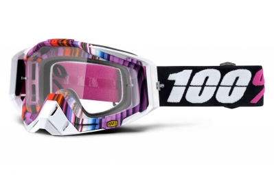 masque 100 racecraft glitch rose blanc ecran transparent