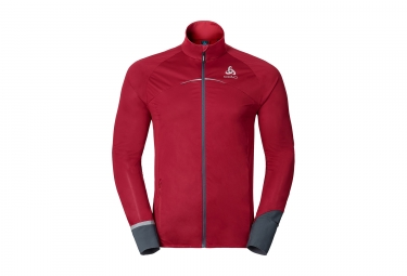 veste coupe vent deperlant odlo zeroweight rouge
