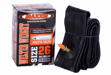 maxxis chambre a air welter weight 26x1 90 2 125 valve presta 48mm