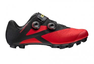 paire de chaussures vtt mavic crossmax pro 2017 noir rouge