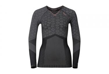 sous maillot femme odlo blackcomb evolution warm gris noir rose