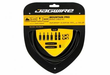 jagwire kit cables et gaines de frein mountain pro ripcord noir carbon