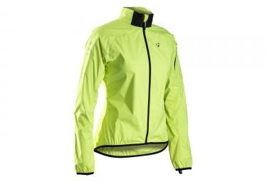 veste femme bontrager race stormshell jaune haute visibilite
