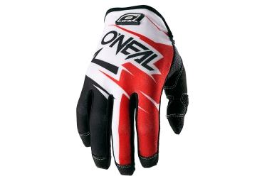 gants longs oneal jump flow jag noir rouge