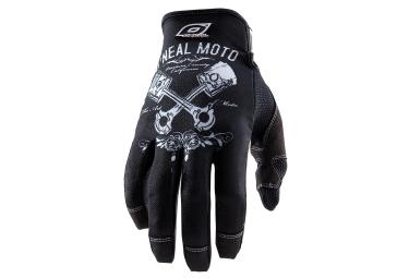 gants longs oneal jump pistons noir