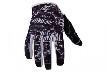 gants longs oneal jump wild noir blanc