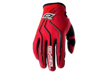 gants longs enfant oneal element rouge