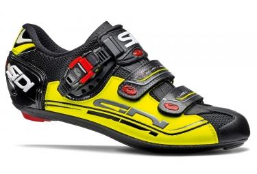 chaussures route sidi genius 7 noir jaune 2017