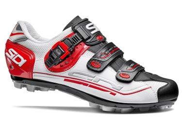 chaussures vtt sidi eagle 7 blanc noir rouge
