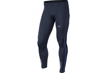 collant long homme nike power tech bleu