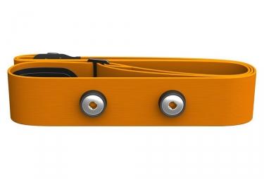 ceinture cardiaque polar soft strap orange