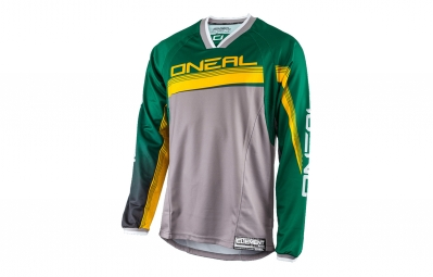 maillot manches longues oneal element fr vert jaune