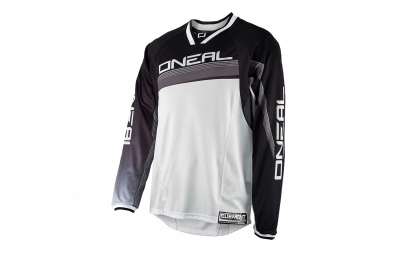 maillot manches longues oneal element fr blanc noir
