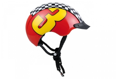 casque enfant casco mini generation rouge jaune