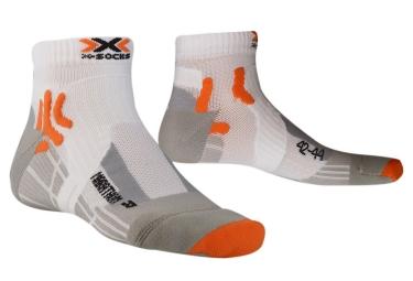 paire de chaussettes x socks marathon blanc orange