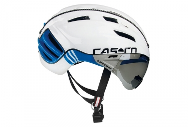 casque aero casco speedster tc plus blanc bleu