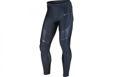 collant long homme nike power speed bleu