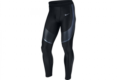 collant long homme nike power speed noir bleu