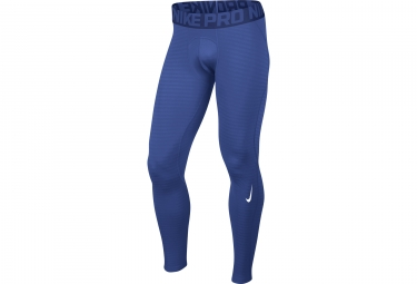 collant long de compression homme nike pro warm bleu