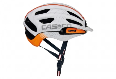 casque casco full air rcc blanc orange