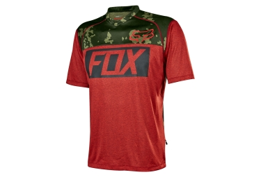 maillot manches courtes fox indicator prints rouge camo