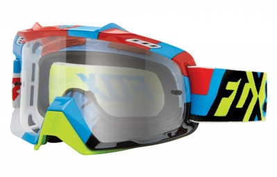 masque fox air space division bleu jaune ecran transparent