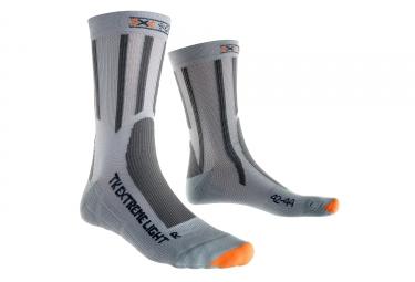 paire de chaussettes x socks trek extreme light gris