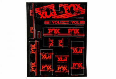 kit stickers fox racing shox heritage 2017 rouge