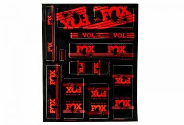 kit stickers fox racing shox heritage 2017 rouge