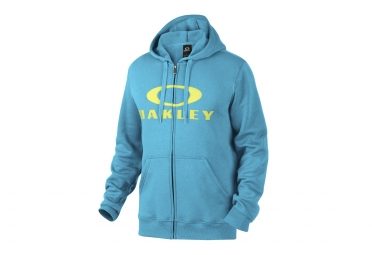 sweat a capuche oakley ellipse nest coupe droite bleu