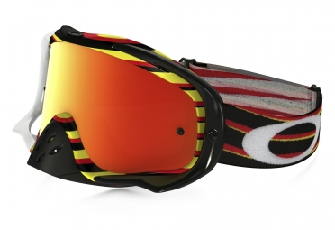masque oakley crowbar mx rouge jaune iridium oo7025 30