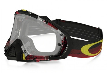 masque oakley mayhem pro mx legacy rouge noir transparant oo7051 06