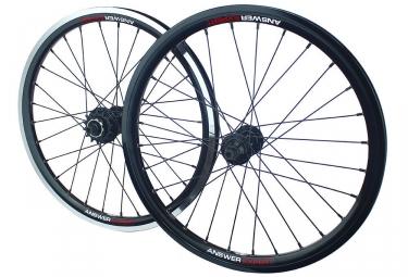 paire de roues answer holeshot 20 x 1 50 noir