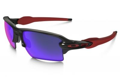 lunettes oakley flak 2 0 xl team colors noir violet iridium ref oo9188 24