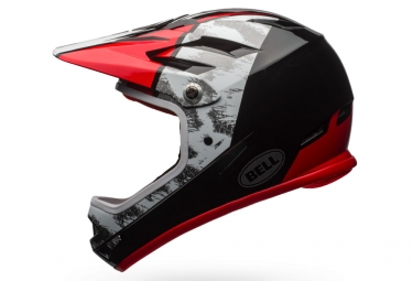 casque integral bell sanction blanc noir rouge