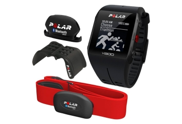 pack montre cardio multisports polar v800 javier gomes noya special edition noir