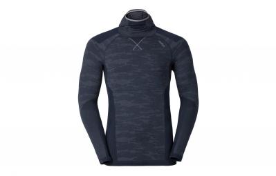 odlo t shirt capuche evolution warm blackcomb noir gris