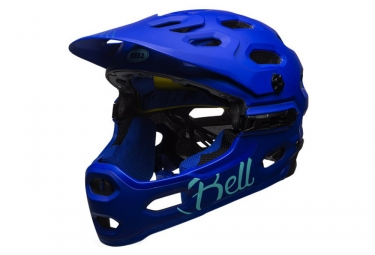 casque integral femme bell super 3r mips joy ride bleu