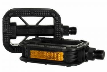 paire de pedales plastiques vtc 9 16 noir