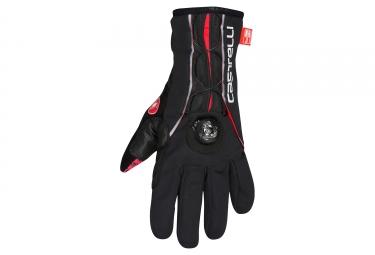 gants hiver castelli boa noir rouge