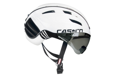 casque aero casco speedster avec visiere blanc noir