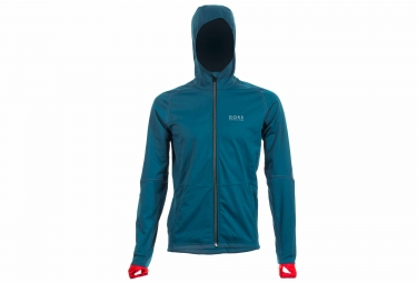 veste coupe vent gore running wear essential windstopper bleu