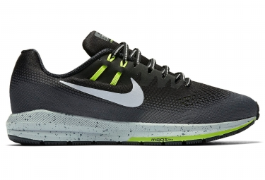 nike air zoom structure 20 shield noir gris jaune homme
