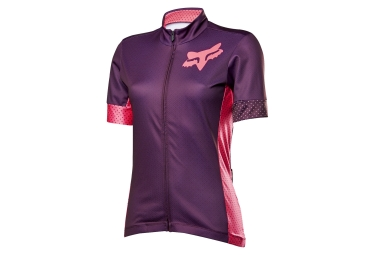 maillot manches courtes fox switchback violet rose