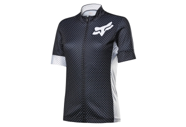 maillot manches courtes fox switchback noir blanc