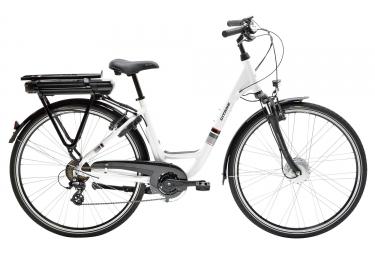 velo de ville electrique femme gitane organ e bike 700 mm 7 vitesses blanc