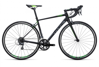 velo route 2017 cube attain shimano claris 8v noir vert