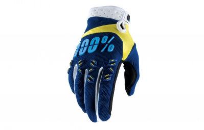 gants long 100 airmatic bleu